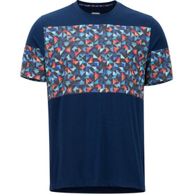 Marmot Gualala Point SS Shirt Herr arctic navy/multi triangles